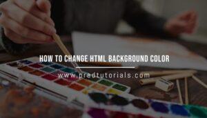 html background color