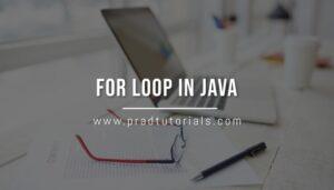 For loop Java
