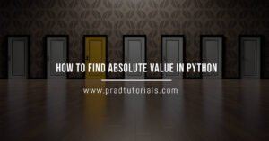 python absolute value