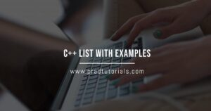 c++ list