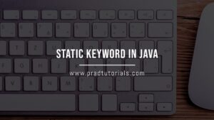 static keyword in java