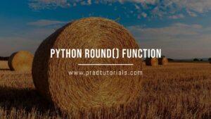 python round