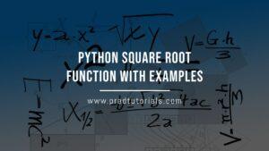 python square root