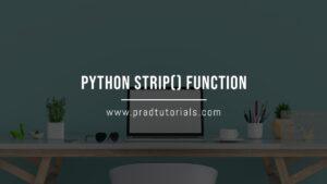python strip