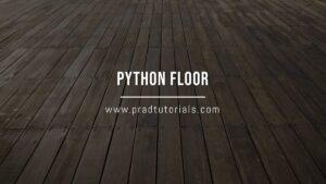 python floor